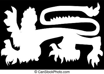 lion, silhouette, britannique