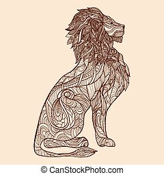 Lion Sketch Illustration