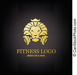 Lion Sport, Fitness Logo Vector Template - Lion Sport Logo...