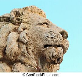 Lion statue at Park de la Grange, Geneva, Switzerland