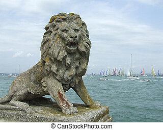 Lion Statue, Cowes