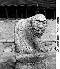 Lion Stone Statue
