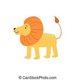 Lion Stylized Childish Drawing