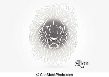 Lion tattoo logo vector