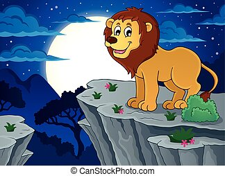 Lion theme image 2 - eps10 vector illustration.