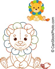 Lion Toy Coloring Page