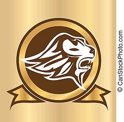 Lion vintage silhouette logo
