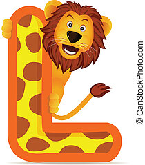Lion with alphabet L