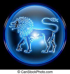 Lion zodiac button icon