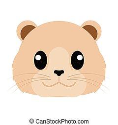 Lioness head cartoon