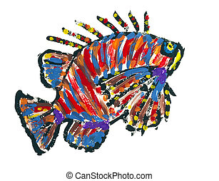 Lionfish Scoprionfish abstract image - Sea Scoprionfish ...