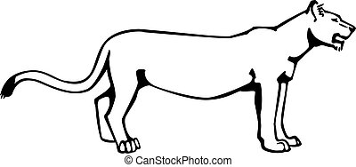 Illustrations clipart vecteurs de lionne 533 dessins clip - Lionne dessin ...