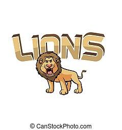 lions banner illustration design