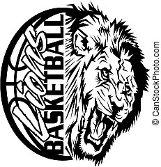 Vectors of lions basketball team design with muscular ...