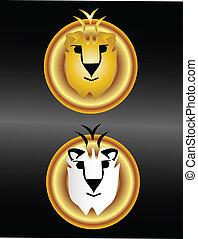 Lions faces logo