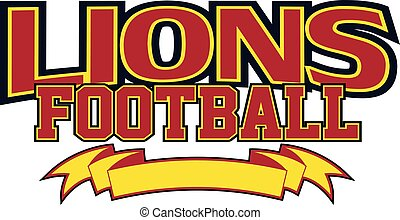 Lions Football With Banner