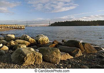 Lions Gate Bridge and English Bay