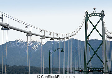 Lions Gate Bridge - Vancouver, BC - Lions Gate Bridge,...