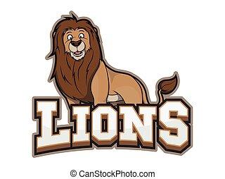 lions illustration design colorful