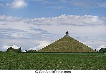 Lion's Mound or Butte de Lion at Waterloo, Belgium - Lion's...