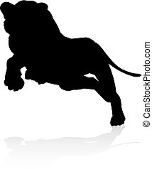 Lions Silhouette