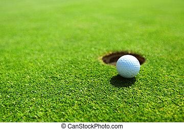 lip, bal, golf, kop
