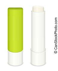 Lip balm stick set on a white background. Vector ...
