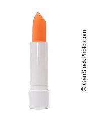 A lip care stick isolated on a white background