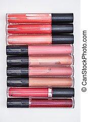 Lip Gloss - A studio close up of cosmetic lip gloss