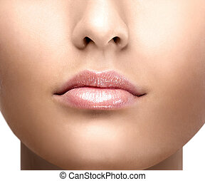 lip gloss girl's face