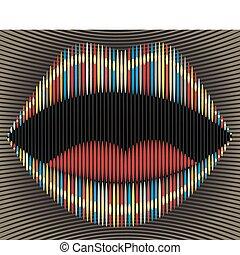 Lip stripes