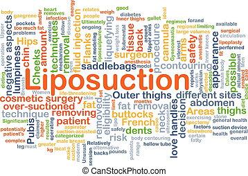 liposuction, háttér, fogalom