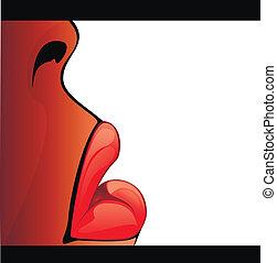 lippen, -, abbildung, bestand