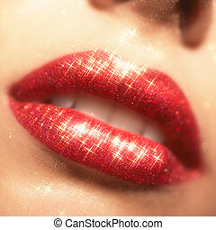 lippen, aufmachung, blank