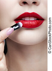 lippen, aufmachung