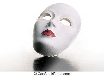 lippen, maske, rotes