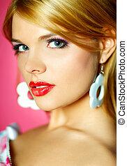 lippen, rotes , schoenheit