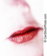 lippen, rotes