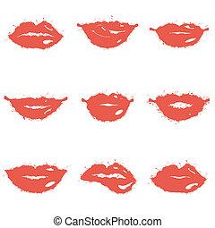 lippen, set
