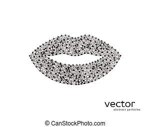 lips., 抽象的, ベクトル, イラスト