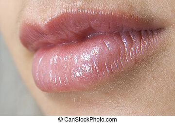 Lips - A close-up of a pair of lips