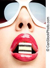 lips closeup