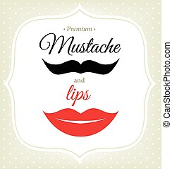 lips., ensemble, hipster, style., moustache