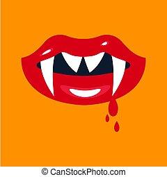 Lips girl vampire