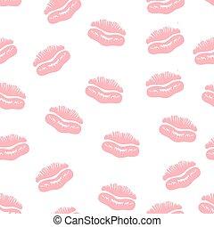 Lips prints seamless background