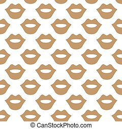 Lips seamless art texture white beige color