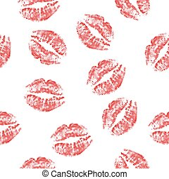 lips seamless halftone - Halftone red attractive woman lips,...