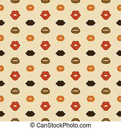 Lips Vector Seamless Pattern