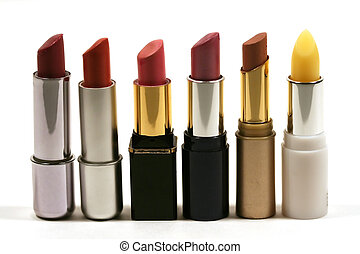 Lipstick - A row of lipsticks
