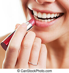 Lipstick and female lips